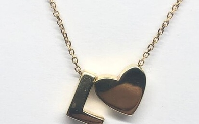 Gold, Yellow gold - Necklace with pendant