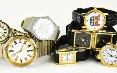 Group Lot of Watches incl Swatch, Futura, Corum