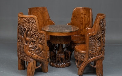 Handmade Thai furniture made of carved hardwood (6)