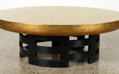 JAMES MONT STYLE ROUND COFFEE TABLE C.1960