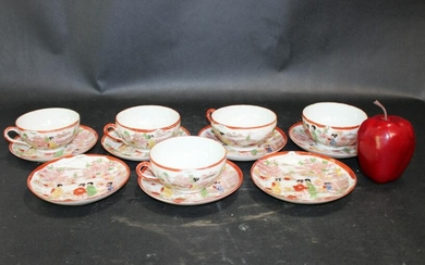 Japanese hand painted porcelain tea set
