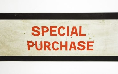 """Large Vintage """"Special Purchase"""" Advertising Sign"""