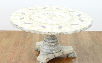 Late 19th/Early 20thC Italian Mosaic Inlaid Table