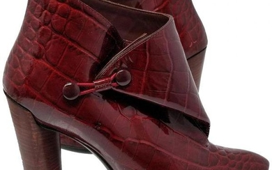 Louis Vuitton Vernis Patent Leather Red Ankle Bootie