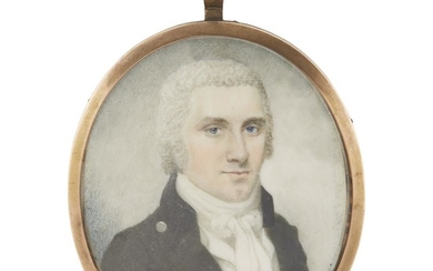 Manner of Raphaelle Peale (1774-1825) Portrait miniature of a...