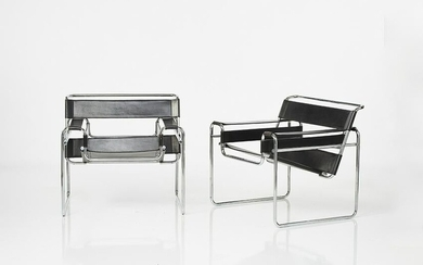 Marcel Breuer Wassily Lounge Chairs (2)