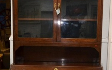 Mid Victorian bureau bookcase, beautifully finished internal...