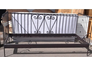 Modern wrought iron style day-bed with mattress( as new cond...