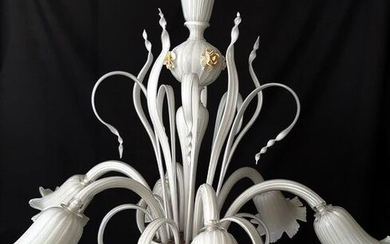 Murano glass chandelier - six light arms