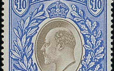 Nyasaland 1903-04 CA £10 grey and blue, a fairly well-centred example of this rare high value,...