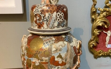 PAIR OF 19TH-CENTURY JAPANESE SATSUMA PORCELAIN VASES