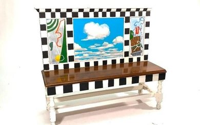 Painted Bench by Catherine Redmond (American