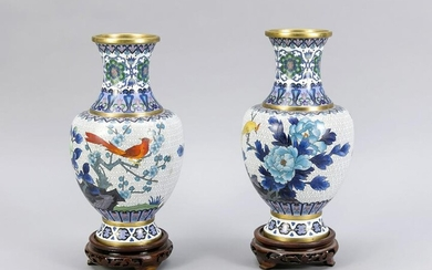Pair of cloisonné vases, China