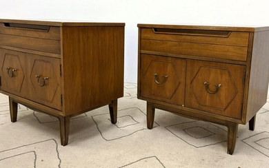 Pr Mid Century Modern Night Stands Side Tables. Single