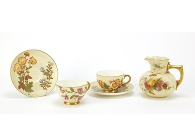 Royal Worcester Blush Ivory comprising a jug numbered 1376 a...