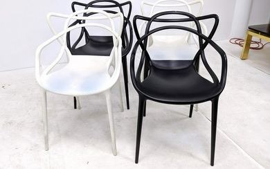 Set 4 PHILIPPE STARCK for KARTELL Masters Chairs. Molde