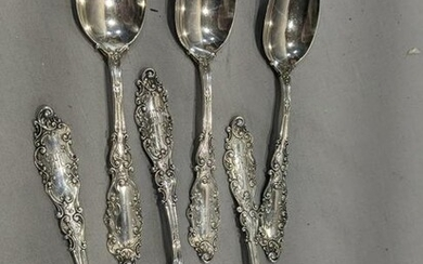 Set 6 Gorham Sterling Silver Tea Spoon