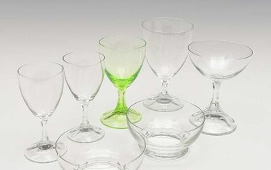 "Set of seven glasses of the service ""NM""..."