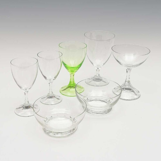 """Set of seven glasses of the service """"NM""""..."""
