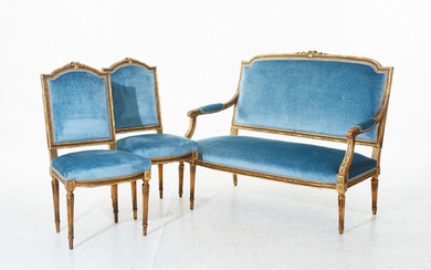 Sofa and chairs Louis XVI style