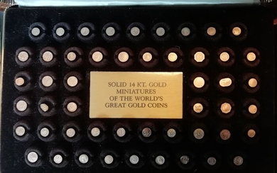 The Netherlands - Gold Miniatures of Famous gold coins - cassette with 50 miniature gold coins - Gold