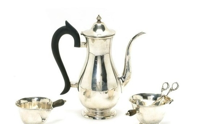 Three Georg Jensen Style Sterling Items with a Becht &