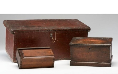 Three Lidded Dovetailed Wooden Boxes
