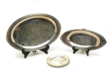 Three Towle Sterling Silver Platters and Plate.