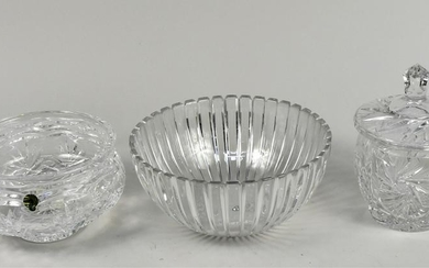 Tiffany & Co. and Waterford Glass Center Bowls