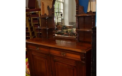 VICTORIAN SCOTTISH DRESSER in mahogany with two drawers over...