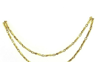 VINTAGE 750 18K Yellow Gold Long Chain Necklace 32""