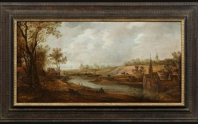 Wide River Landscape with a Church