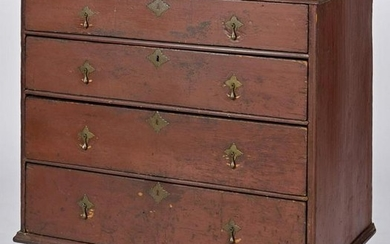 William & Mary painted pine chest of drawers