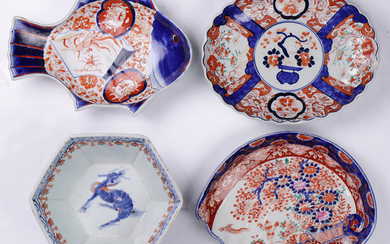(lot of 4) Japanese Imari Ware