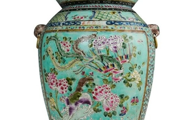 19th Cent. Chinese Famille Rose Porcelain Urn
