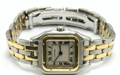 """Cartier """"Panthere"""" 18Kt & Stainless Steel Watch"""
