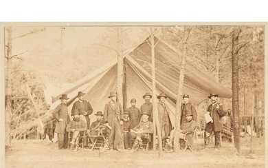 General Ulysses S. Grant and Staff, Albumen Photograph