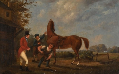 IRISH SCHOOL, EARLY 19TH CENTURY | A TRAINING TOUT AND A QUICK SHOD