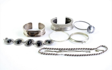 925 silver Bangles together with Necklace and other