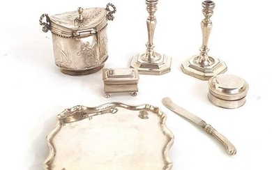 A COLLECTION OF SILVER MINIATURES