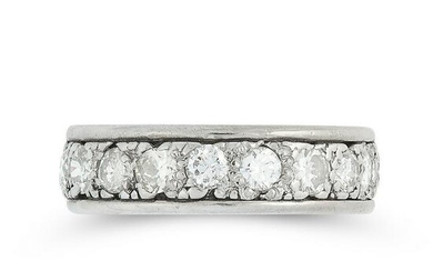 A DIAMOND ETERNITY RING comprising a single row of