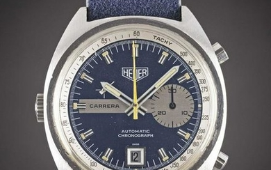 A GENTLEMAN'S STAINLESS STEEL HEUER CARRERA AUTOMATIC