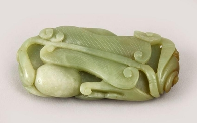 A GOOD QUALITY CHINESE CARVED JADE PEBBLE OF LINGXI