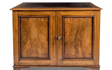 A George III Style Mahogany Map Cabinet
