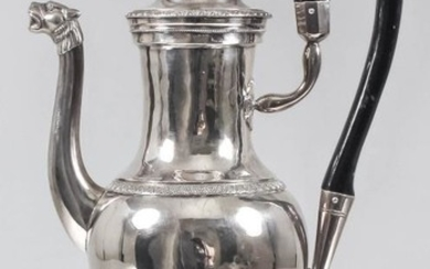 A Late 18th/Early 19th Century French Silver Coffee Jug,...
