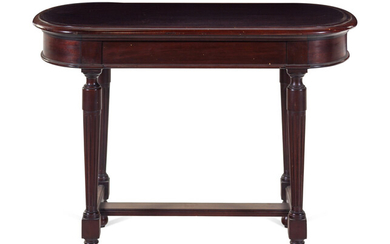 A Louis XVI Style Carved Mahogany Side Table