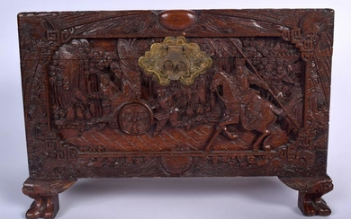 A MID 20TH CENTURY CHINESE CAMPHORWOOD CHEST, carved