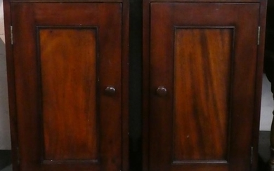 A Pair of Edwardian Style Mahogany Bedside Cabinets With Pan...