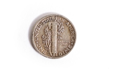 A RARE USA 1916 DENVER DIME (10 CENTS COIN)...
