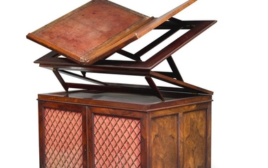 A REGENCY ROSEWOOD METAMORPHIC FOLIO CABINET, CIRCA 1820, IN THE MANNER OF GILLOWS